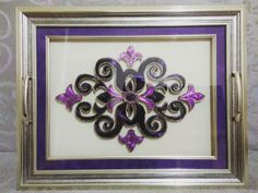 Thread Art, Thread Painting, Crewel Embroidery, Ribbon Embroidery, String Art Patterns, Islamic Calligraphy, Henna, Free Pattern, Decorative Boxes