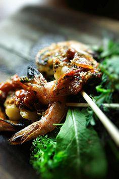The Lazy Goat. Grilled Shrimp, Bon Appetit, Lazy, Goats, Drinking, Heart, Food, Beverage, Drink