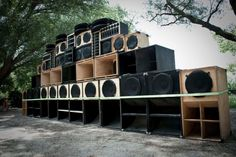 a really big big ass sound system outdoors From Mexico? But Respect.
