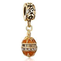 Pugster Christmas Gift Golden Faberge Egg Dangle Bead Beads Fits Pandora Charm Bracelet Pugster. $17.99. Designer: Ada. Metal: Metal, Crystal,. Weight (gram): 7.4. Color: Golden. Size (mm): 9.42*8.51*30.4. Save 10%!