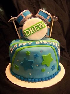 Drum Kit Cake By sj27213 on CakeCentral.com