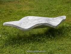 "Lot 315 – Martyn Barratt, Leaf bench II, (marble, stainless steel) – ""The Eddie Powell Collection"" 20th Century, Modern, Contemporary Sculpture and Decorative Arts 29 Nov 2014"