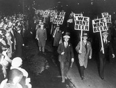 The scene inside my brain every Friday night.  Prohibition protest