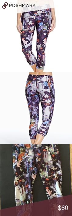 CALIA by Carrie Underwood (floral capri) Athleisure style, yoga capris with floral design, slimming design lines and high waist. Brand new, never worn but missing tags. CALIA by Carrie Underwood Pants Capris