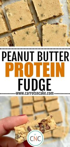 A super simple healthy peanut butter protein fudge made with just 4 ingredients. Make a batch during your meal prep day to have on-hand for a delicious bite-size treat!