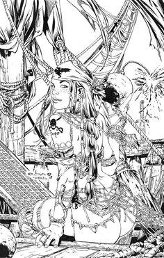Pirate Babe - EBAS - Egli -Inks by SurfTiki on deviantART