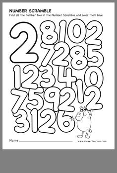 Number scramble activity worksheet for number 2 for preschool children Pre K Worksheets, Printable Preschool Worksheets, Science Worksheets, Math Activities, Free Printable, Numbers Kindergarten, Numbers Preschool, Kindergarten Math Worksheets, Preschool Math