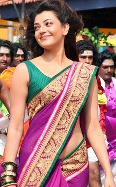 Kajal Aggarwal sexy Photos in half saree