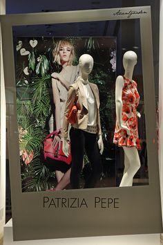 Patrizia Pepe Milan window display 2014 as Part of the World Fashion Window Displays on April 16 2014 in Milan Italy
