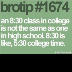 So true! Even 10am classes are struggles...