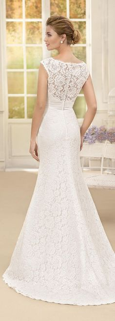 Lace Fitted Wedding Dress with Illusion Neckline by Fara Sposa 2017 Bridal Collection Designer: Fara Sposa SEE POST SEE GALLERY