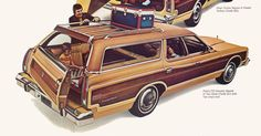 Thanksgiving Station Wagons - Ford Country Squire Side Facign