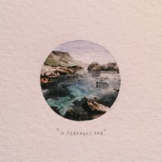 Paintings for Ants — Day 47 : Bakoven beach. The very best. 29 x 29 mm....