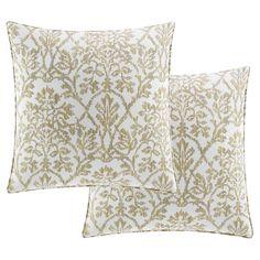 beige odelia euro pillow sham set of 2 stone cottage