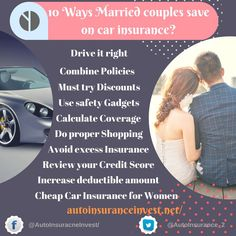 Married Couple can save on car insurance. Most of the car insurance companies consider marriage factor for calculating premium.How Married Couple save on Car Insurance Inexpensive Car Insurance, Low Car Insurance, Shop Insurance, Auto Insurance Companies, Insurance Quotes, Auto News, Top Cars, Cheap Cars, Married Couples