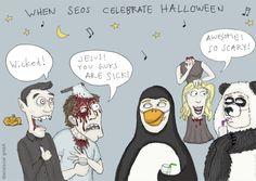 When SEOs celebrate Halloween - cartoon of the month 01