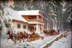 Zygmunt Rozwadowski ( Ukrainian-Polish, 1870 - 1950) - Before the hunting
