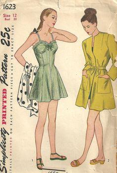Patrones de costura simplicidad 1623 Vintage por studioGpatterns