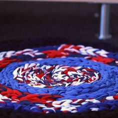Braided T-Shirt Mat #DIY #simple #towel