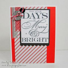 Stamping Rules!: Merry and Bright Mojo Stamp A Stack Sneak Peek CTMH Christmas Card Fast and easy