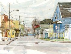 urban sketchers Shari Blaukopf  | Urban Sketchers: Small town