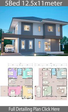 House Plans Mansion, Sims House Plans, House Layout Plans, Duplex House Plans, Family House Plans, Dream House Plans, House Layouts, 2 Storey House Design, Simple House Design