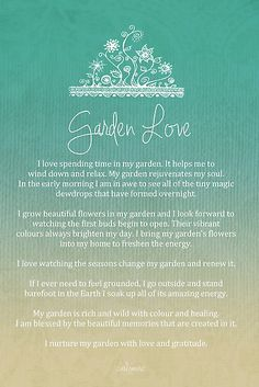 Affirmation - Garden Love by CarlyMarie