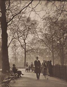 St James Park, London, (b/w photo) Primary Creator: Harry Moult p. Vintage London, Old London, St James' Park, Saint James, Past, Saints, Country Roads, Black And White, History