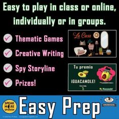 Digital Spanish Games to learn Vocabulary for LA CASA, House! Distance Learning Options and editable. #speakmorespanish.com Vocabulary Exercises, Vocabulary Activities, Writing Activities, Spanish Games, Spanish Activities, Teaching Spanish, World Language Classroom, High School Spanish, Make Your Own Puzzle