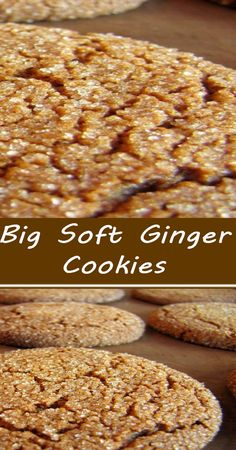 Soft Ginger Cookies, Molasses Cookies, Yummy Cookies, Delicious Deserts, Yummy Snacks, Holiday Desserts, Easy Desserts, Cookie Recipes, Gingerbread