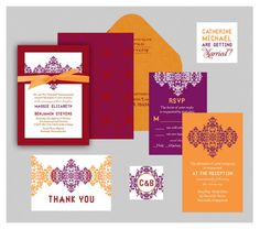 Indian Wedding Invitation Ram Leela Inspired  by InvitationShop, $2.25. Color scheme = right on