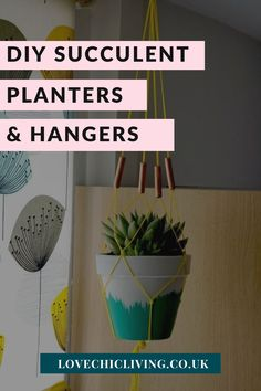 Here are 10 easy DIY macrame plant hangers to help you make even more space for your house plant decor! Decorate your home with indoor plants and jazz them up with these DIY planter ideas. Terracotta pot design ideas to spruce up a boring plant pot. Succulent Planter Diy, Planter Ideas, Diy Planters, Succulents Diy, House Plants Decor, Plant Decor, Macrame Plant Hangers, Home Decor Trends, Terracotta