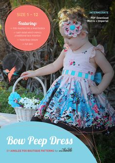 Bow Peep Party Dress PDF Stand Alone - One Thimble - SEWN PROJECTS & TIPS TO HELP YOU SOAR
