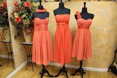 3/$100 Bridesmaid Orange Color : wedding bridesmaids bridesmaids size 10 orange bridemaids short dress IMG 7069