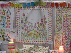 "So pretty! From ""Don't Look Now"" booth at Quilt Market"