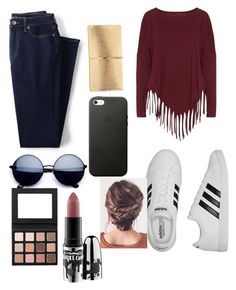 """""""Untitled #177"""" by graceha on Polyvore featuring Lands' End, Boris, adidas, Nina Ricci and MAC Cosmetics"""
