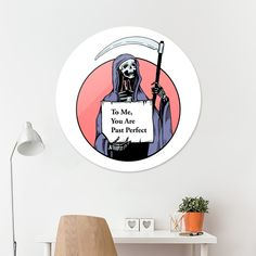 Discover «Death, Actually», Limited Edition Disk Print by Max Movko - From $99 - Curioos