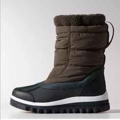 STELLA MC CARTNEY WINTER SNOW HUNTER GREEN BOOT8 Authentic Stella Mc Cartney x Adidas Weather boots. Size 8. Run true to size. 100% Authentic.  Winter snow boots with a sculpted lug sole and a ripstop nylon upper with zip fastening.   Rubber toe bumper and elastic cuff for a snug fit. Climaproof® technology, provides lightweight, breathable protection from wind and water.  A TRAXION™ outsole for maximum grip in all directions. PLEASE LIKE❤️ SHARE, Follow. Make offers via offer button…