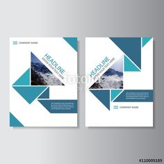 Blue Business proposal Vector Leaflet Brochure Flyer template design, book cover layout design, Abstract