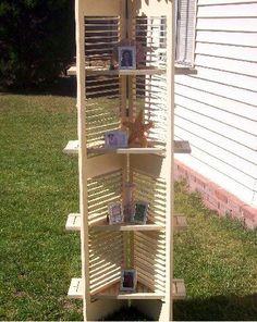 Repurposing shutters that I have--bookshelf