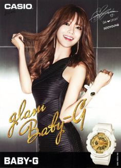 150221 CASIO - Baby-G SNSD Poster - Sooyoung