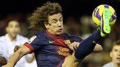 Carles Puyol, FC Barcelona. | Valencia 1-1 FC Barcelona. 2013-02-03.