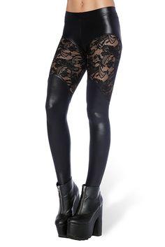 Bootleg Lace Leggings