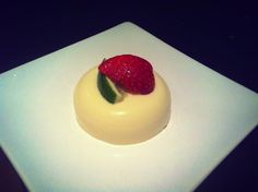 Pandan and Coconut Panna Cotta - it's Asian infused, bit like me.