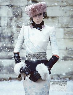 Madalene de la Motte by Thomas Whiteside for Tatler Russia December 2011