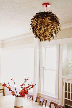 DIY leaf lantern