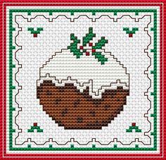 Christmas Pudding free cross stitch pattern