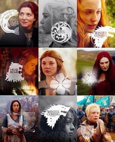 Women of the GoT and there house banners.