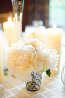 Lots of candles, simple flowers