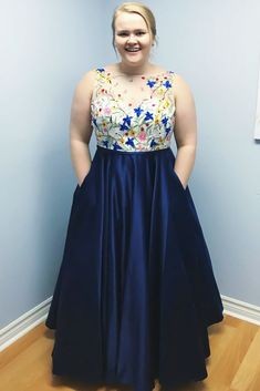 A-line Dress With Lace Floral Top ★ Do you wonder how to shop for p. - - A-line Dress With Lace Floral Top ★ Do you wonder how to shop for plus size prom dresses? Peplum Gown, Lace Dress, Plus Size Prom Dresses, Short Dresses, Big Size Dress, African Fashion, Floral Tops, High Waisted Skirt, Curvy